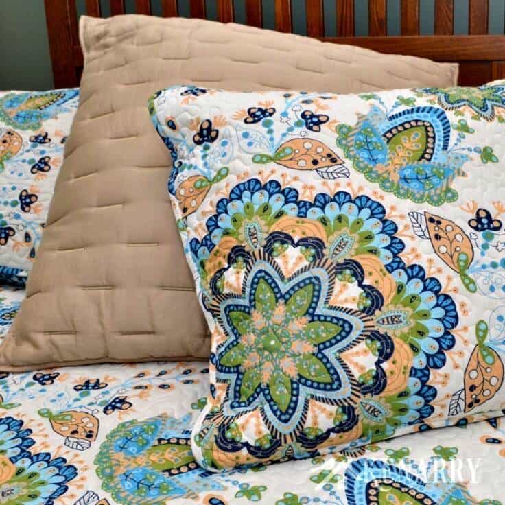 There is one easy, simple way to have a dramatic change to your master bedroom. Swap out your warm winter comforters for fresh spring bedding.