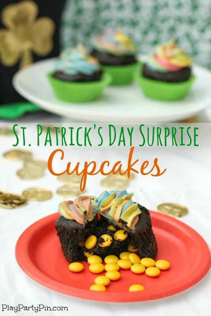 St. Patrick's Day Surprise Cupcakes - Play. Party. Pin. featured on Ideas for the Home by Kenarry®