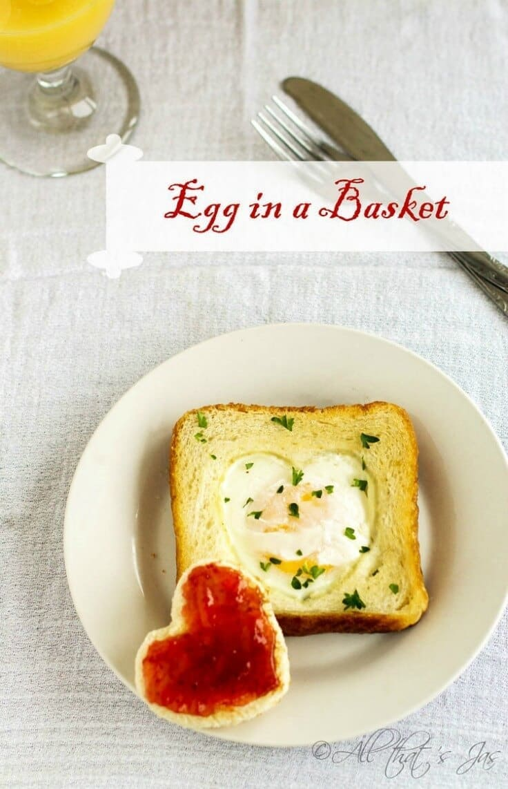 Egg in a Basket - All That's Jas featured on Ideas for the Home by Kenarry®