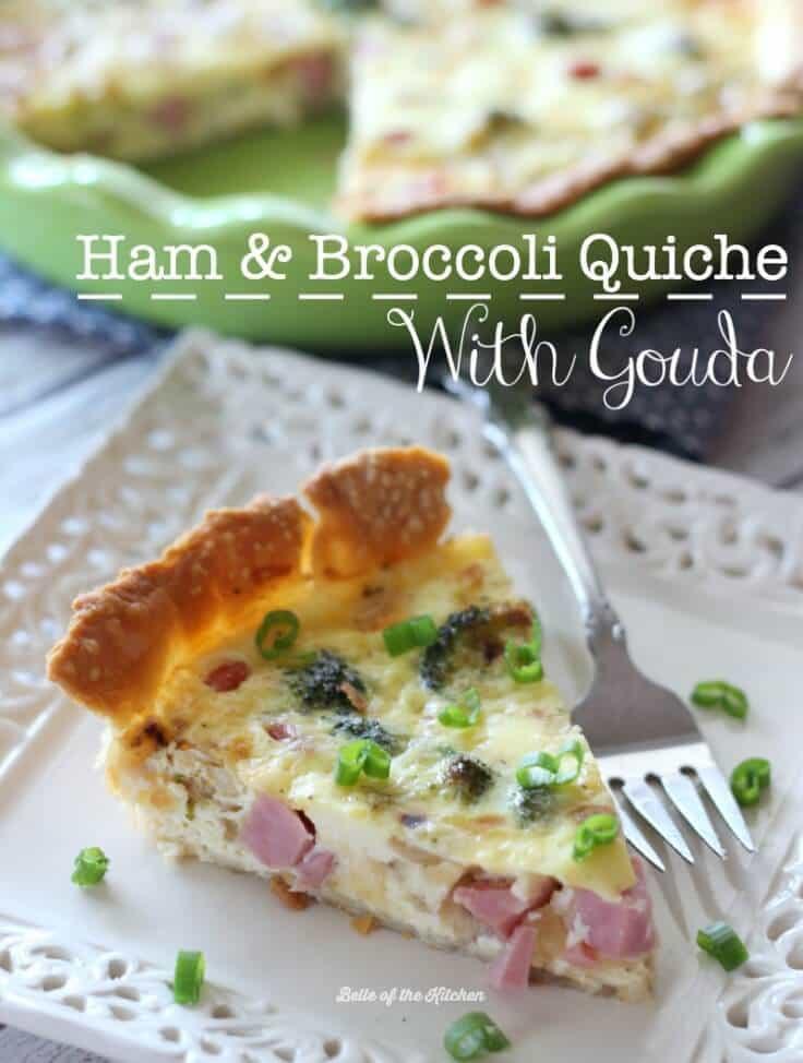 Ham and Broccoli Quiche with Gouda