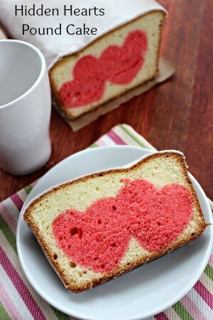 Hidden Hearts Pound Cake – Moms Need to Know featured on Ideas for the Home by Kenarry®