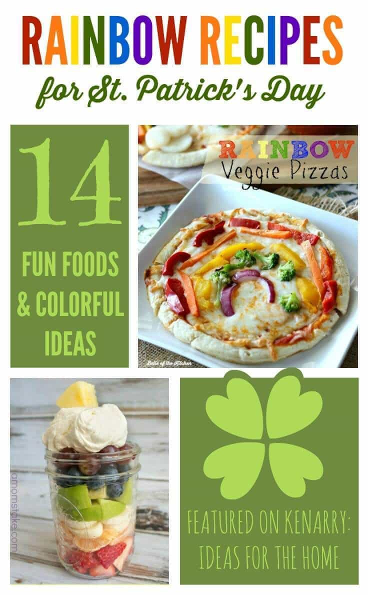Celebrate St. Patrick's Day with these rainbow recipes. My kids will love these fun food ideas!
