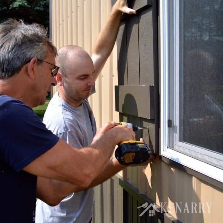 Follow this easy DIY tutorial for board and batten shutters to add rustic charm to any home or cottage. Use this method to build shutters of any size.