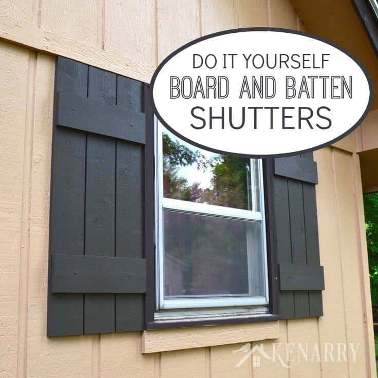 Board and batten shutters an easy diy tutorial for How to build board and batten exterior shutters