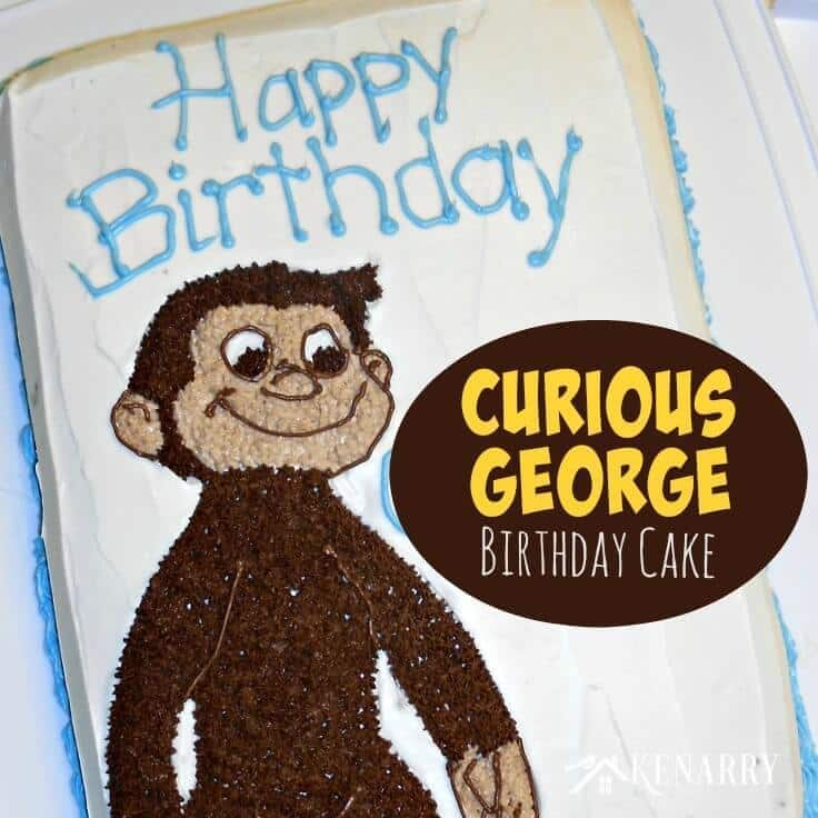 A Curious George Birthday Cake on Ideas for the Home by Kenarry.