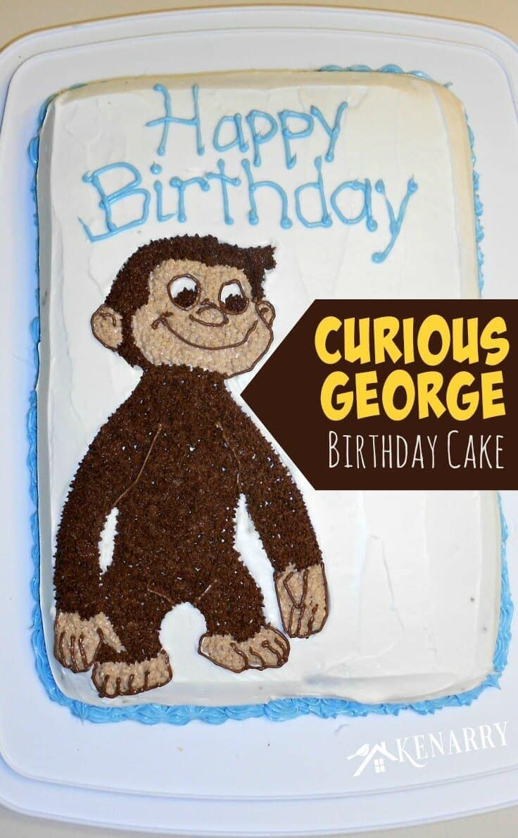 Curious George Birthday Cake from Ideas for the Home by Kenarry.