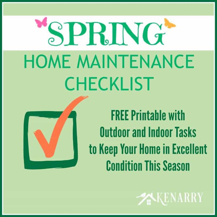 This free printable Spring Home Maintenance Checklist helps you keep your home in excellent condition, outside and inside, this season.