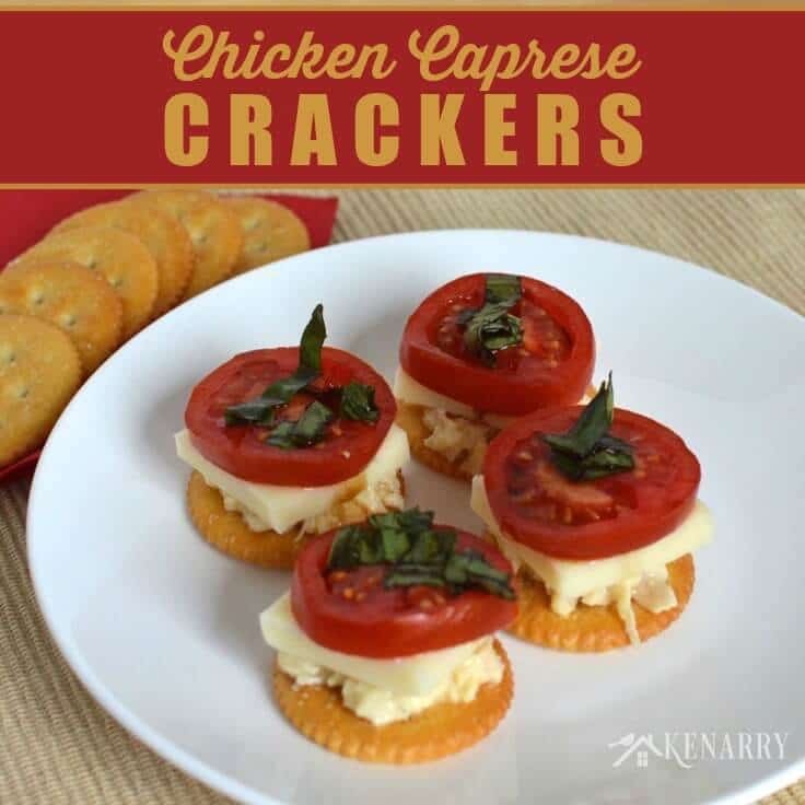 This easy appetizer takes it to the next level by adding chicken with tomato, mozzarella, basil and balsamic vinegar and putting it on a delicious RITZ® Cracker.