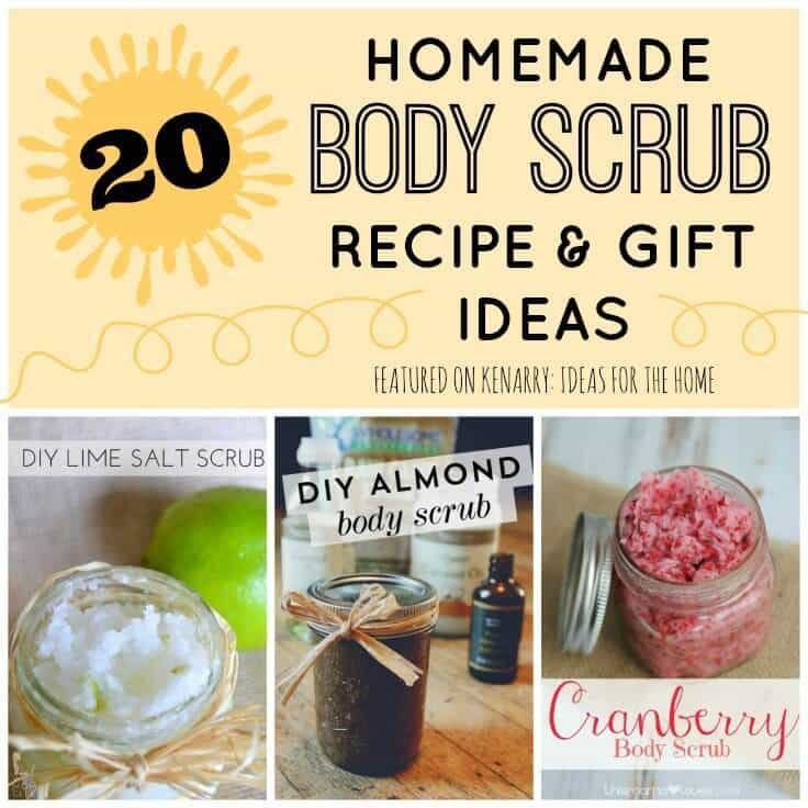 Every homemade body scrub recipe you need to make great gifts for Mother's Day, teacher appreciation, bridal showers, holidays and friends.