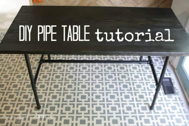 DIY Pipe Table Tutorial - Designer Trapped in a Lawyer's Body featured on Ideas for the Home by Kenarry®