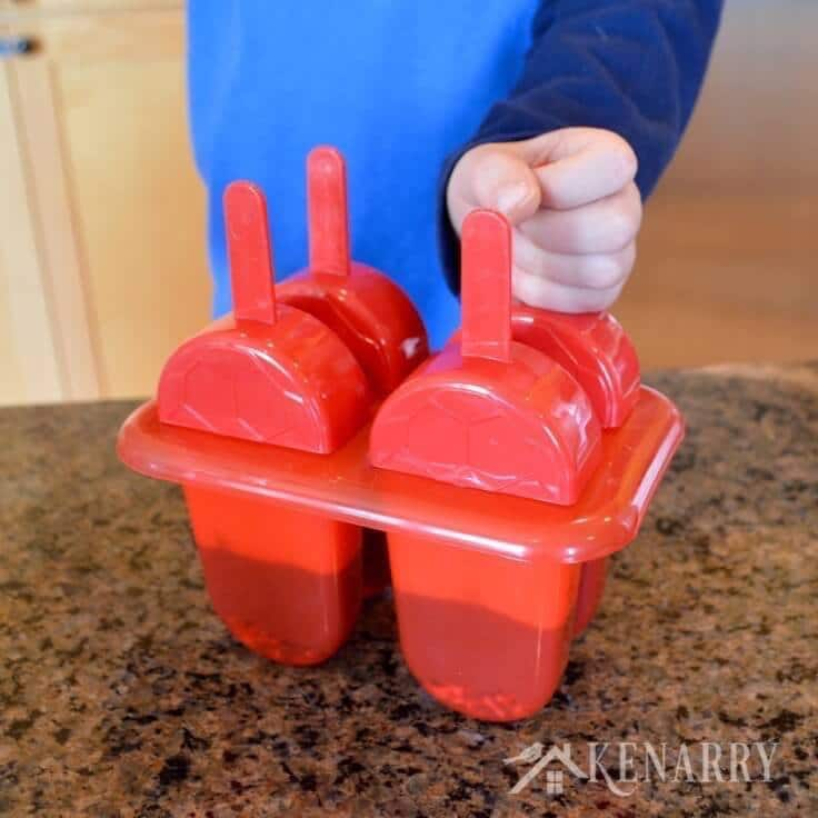 Red popsicle molds.