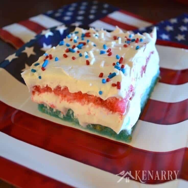 Blue Jello Cake Blue Layered Jello Cake