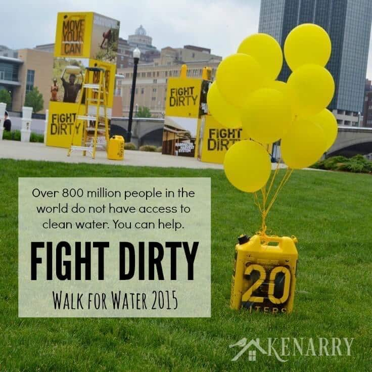 FIGHT DIRTY and help people who do not have access to clean water. You can make a difference. 20Liters.org provides water filters for homes in Rwanda.