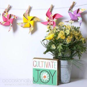 DIY Pinwheel Banner Tutorial