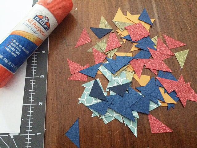 DIY initial art paper pieces