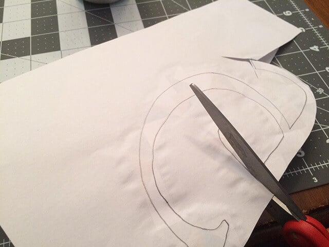 DIY initial art trimming