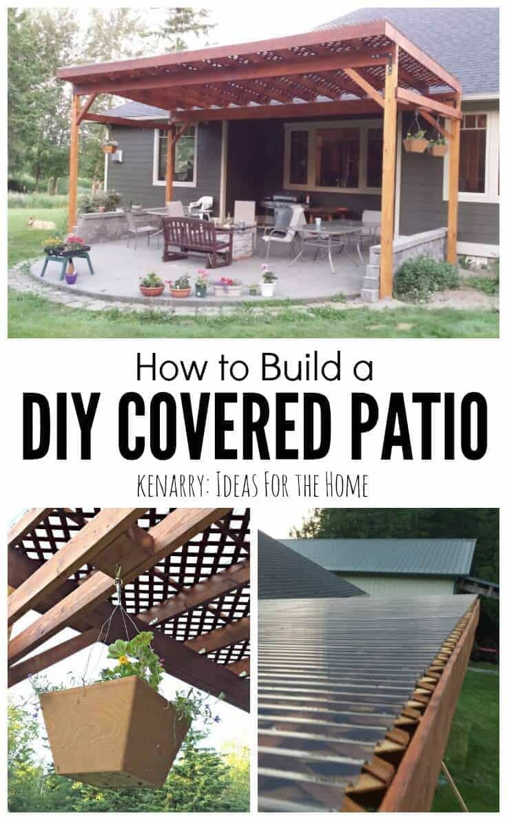 Beautiful idea for your backyard! How to build a DIY covered patio ...