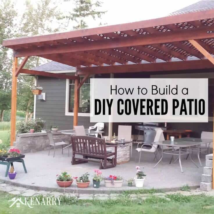 How To Build A Diy Covered Patio, Outdoor Covered Patio
