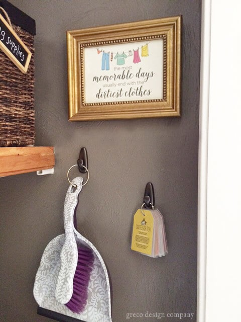 laundry room print with hooks