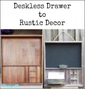 old desk drawer repurposed rustic entryway organizer chalkboard