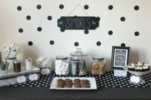 S'mores Cupcakes and Dessert Table
