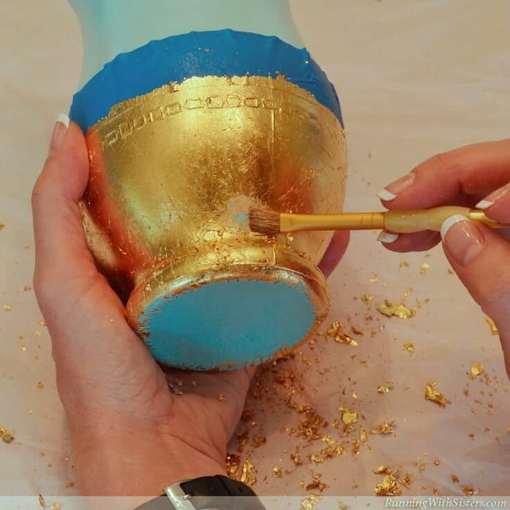 Touch Up Spots With More Gold Leaf