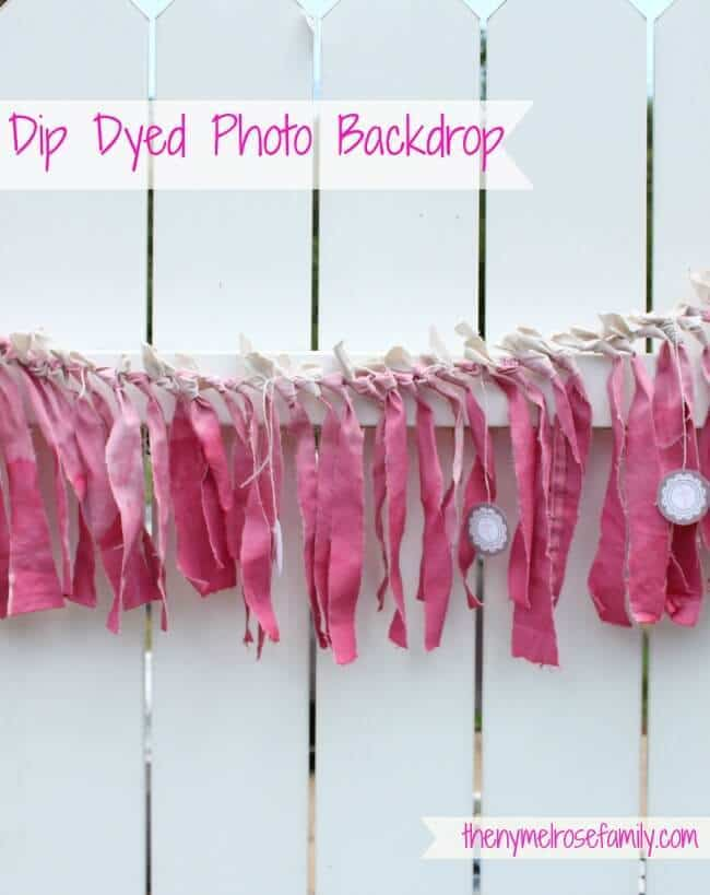 Dip Dyed Photo Back Drop from The Melrose Family featured in the Summer Spotlight