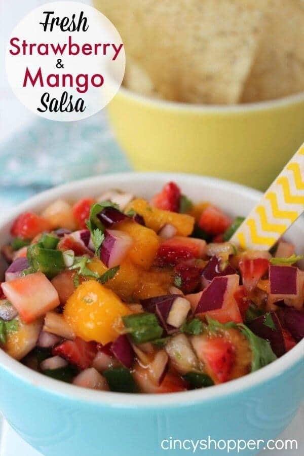 Fresh Strawberry Mango Salsa Recipe – CincyShopper.com featured on Kenarry.com