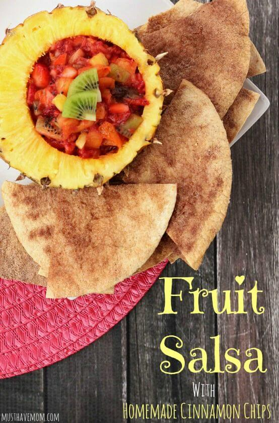 Fruit Salsa with Homemade Cinnamon Chips – Must Have Mom featured on Kenarry.com