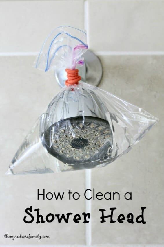 How to Clean a Shower Head from The Melrose Family featured in the Summer Spotlight