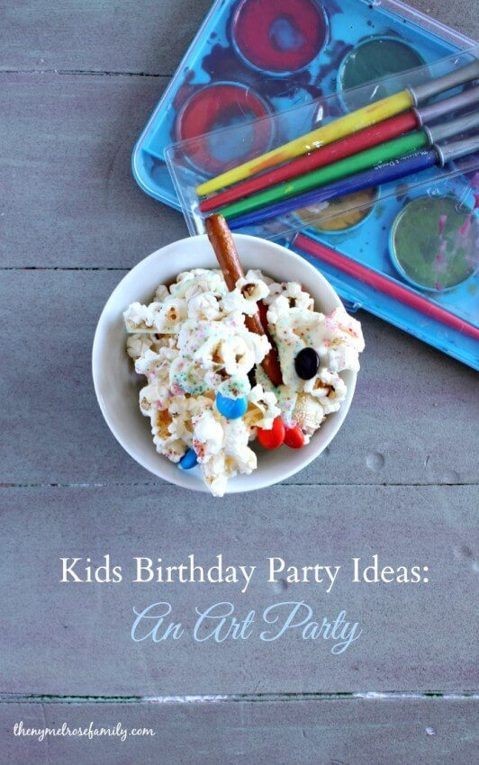 Kids Birthday Party Ideas: An Art Party from The Melrose Family featured in the Summer Spotlight