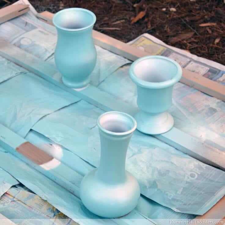 Prep Vases For Gold Leaf