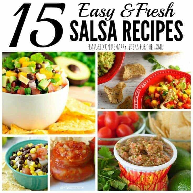 So many fresh salsa recipes to try! 15 great recipe ideas for fruit or tomato salsas to serve with tortilla chips as an appetizer at your next dinner party.