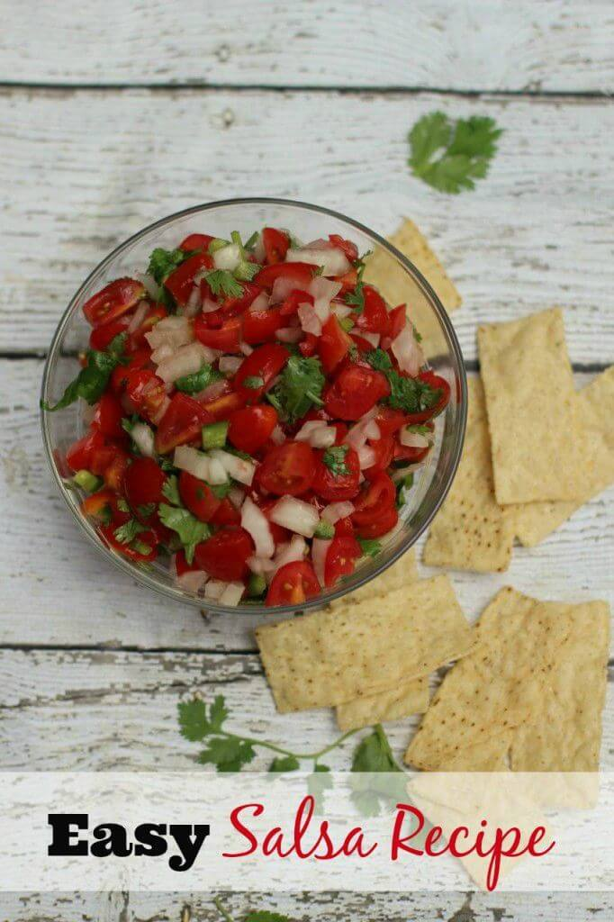 Easy Healthy Salsa Recipe – Everyday Savvy featured on Kenarry.com
