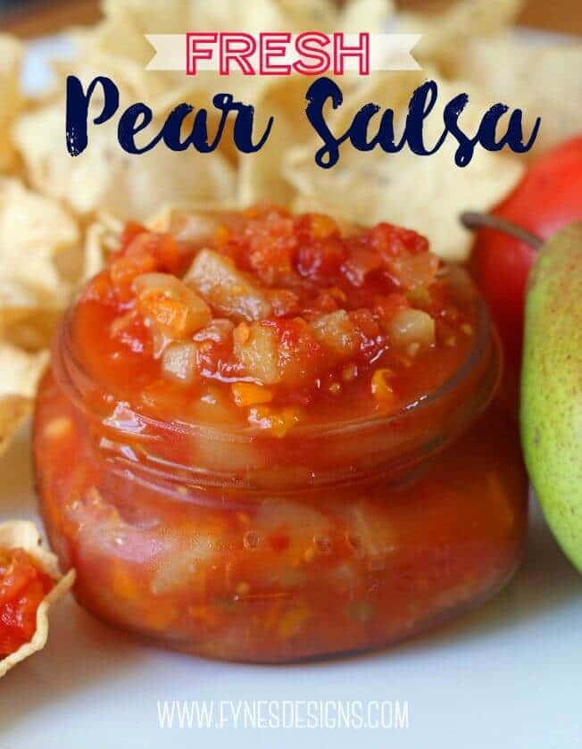 Sweet and Spicy Fresh Pear Salsa – Fynes Designs featured on Kenarry.com