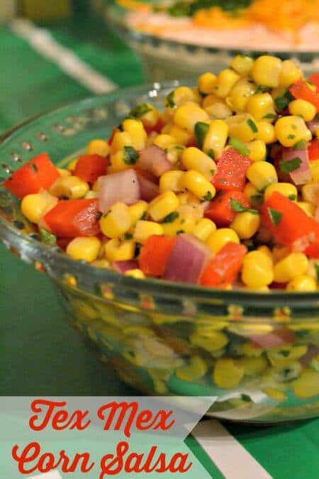 Fresh Tex-Mex Corn Salsa – The Domestic Geek featured on Kenarry.com