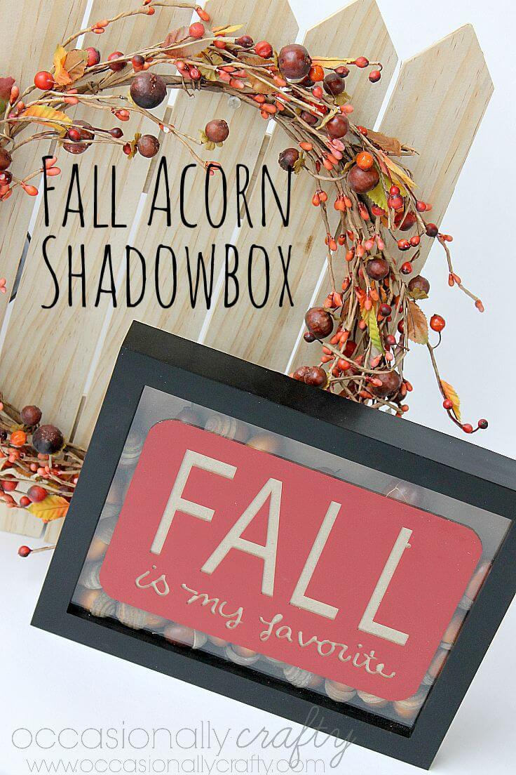 Fall Acorn Home Decor Shadowbox