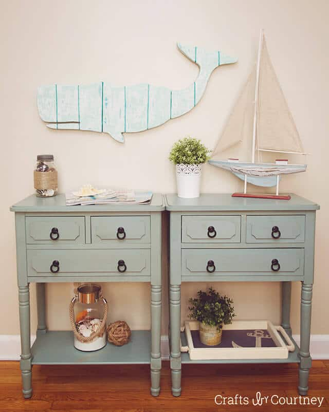 Faux Wood Whale Art from Crafts By Courtney featured in the Summer Spotlight