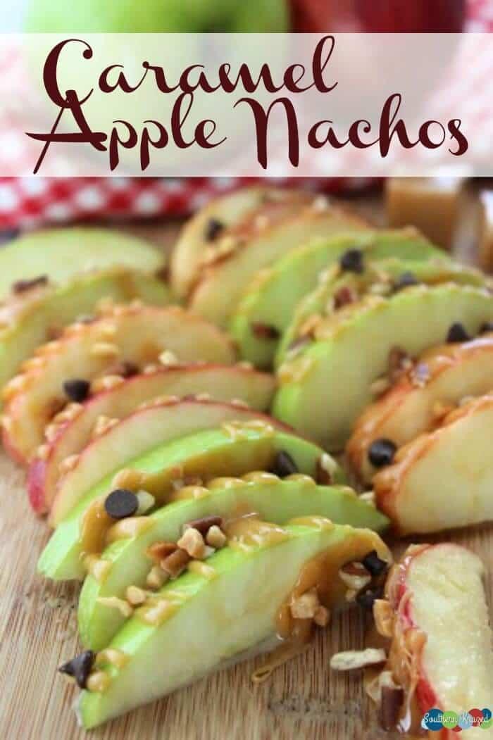 Caramel Apple Nachos – Southern Krazed - Caramel Apple Dessert Ideas: 20 Delicious Recipes featured on Kenarry.com