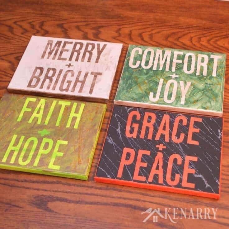 Love this craft idea! Kid's canvas art is an easy painting activity and makes a great Christmas gift for your child to give to a teacher or grandparent.