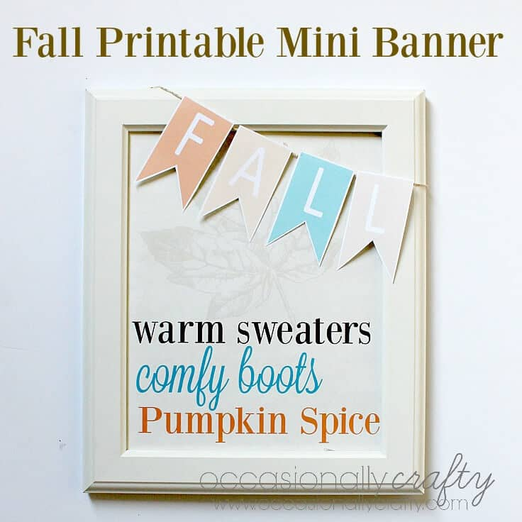 Fall Printalbe Mini Banner