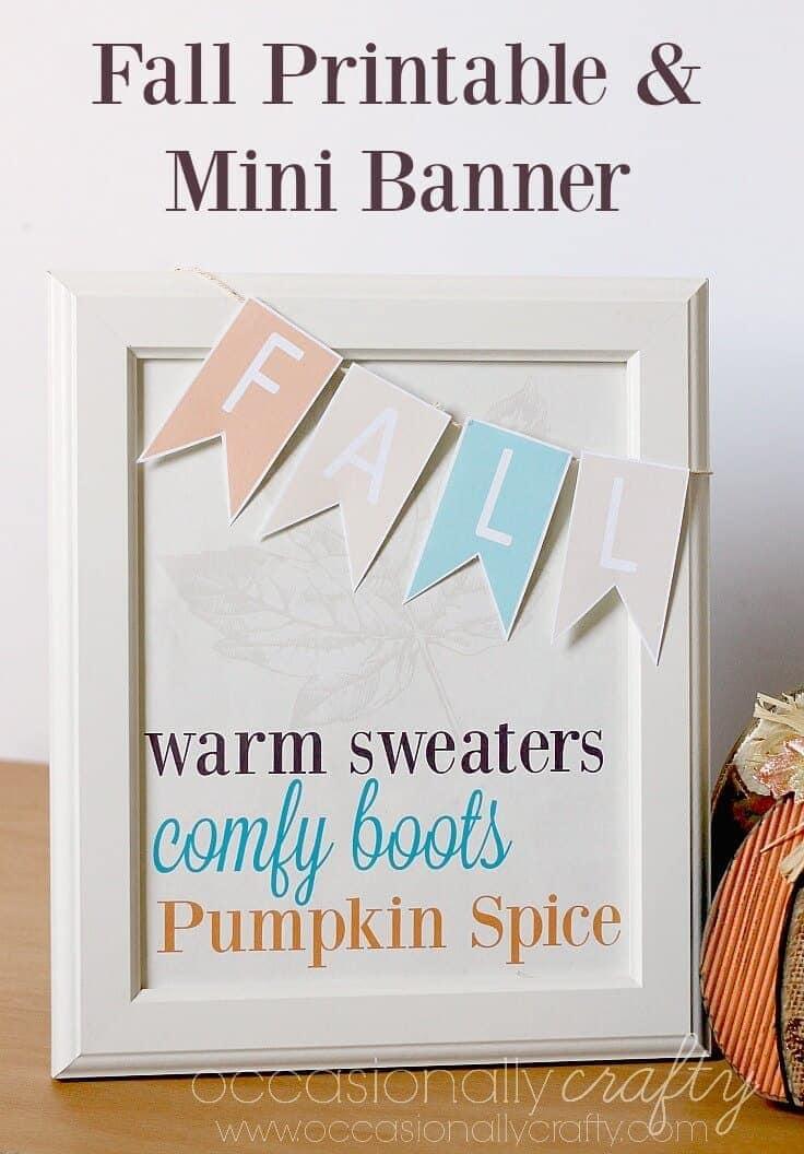 Fall Printable and Mini Banner