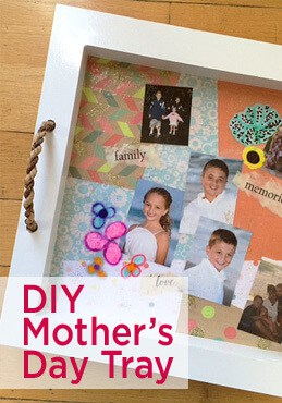 DIY Mothers Day tray from Greco Design