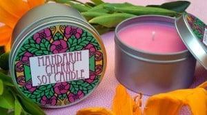 ONeil Sisters Mandarin Cherry Candle Tin