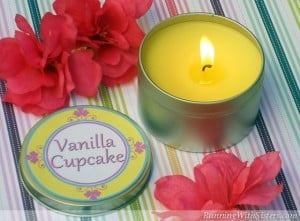 ONeil Sisters Vanilla Cupcake Candle Tin