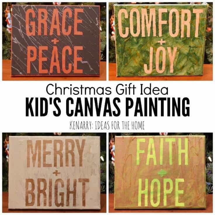 Christmas gift idea - Kid's Canvas Painting