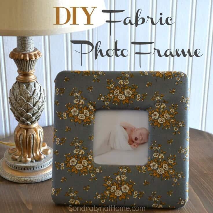 DIY Fabric Photo Frame - Sondra Lyn at Home.com