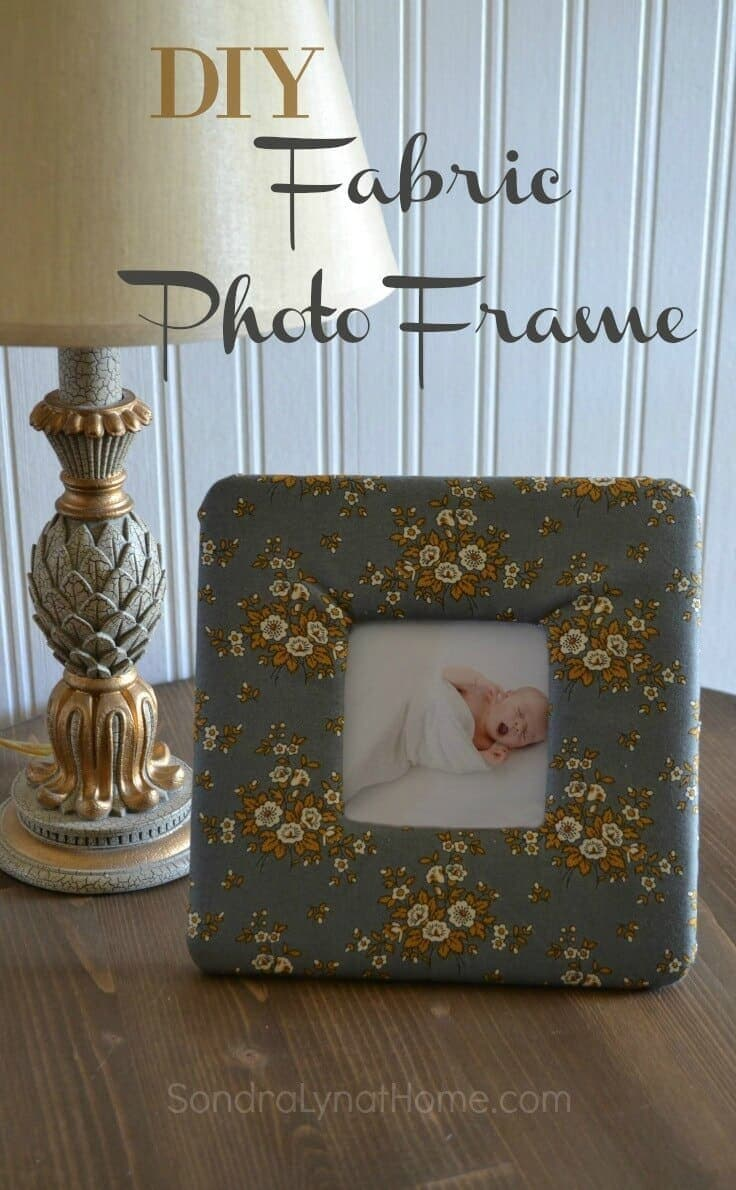 DIY Fabric Photo Frame -- Sondra Lyn at Home.com