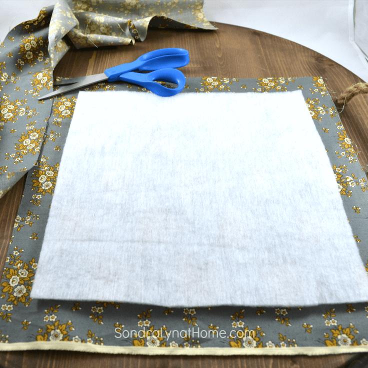 DIY Fabric Photo Frame - cutting fabric-Sondra Lyn at Home.com