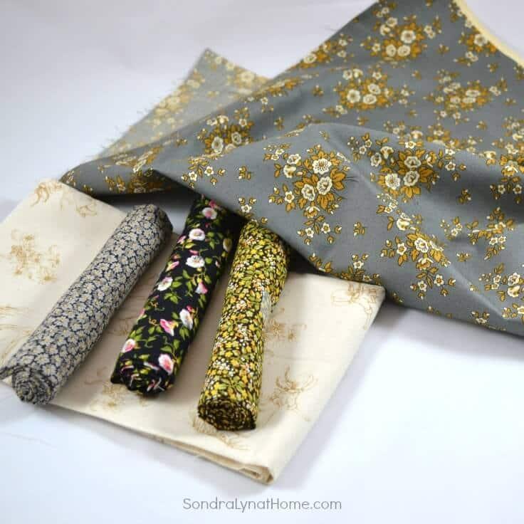 DIY Fabric Photo Frame fabric selection - Sondra Lyn at Home.com